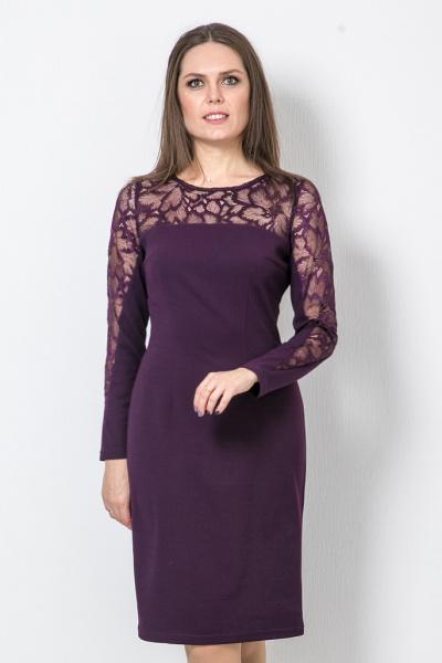 Платье с гипюром, П-0560